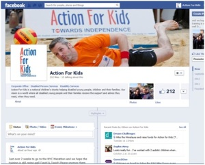 The Action For Kids Facebook page